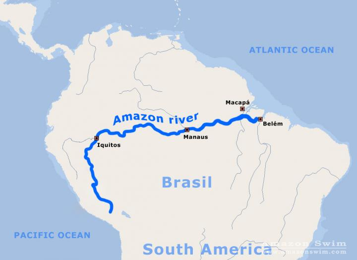Amazon River In South America Map.Amazonswim Com The Amazon The World S Largest Rainforest